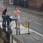 Some Irish Guys Ironing and practicing sodomy on a bus shelter in Dublin