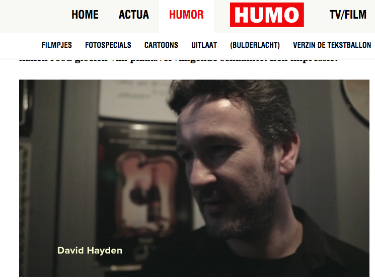 David Talks Humo Comedy Cup